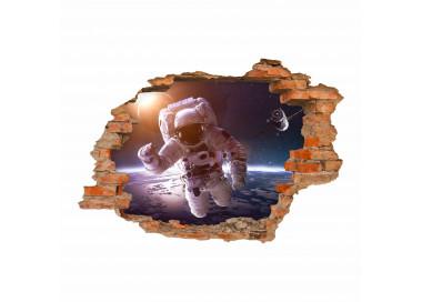 176 wandtattoo astronaut loch in der wand weltall kosmonaut. Black Bedroom Furniture Sets. Home Design Ideas