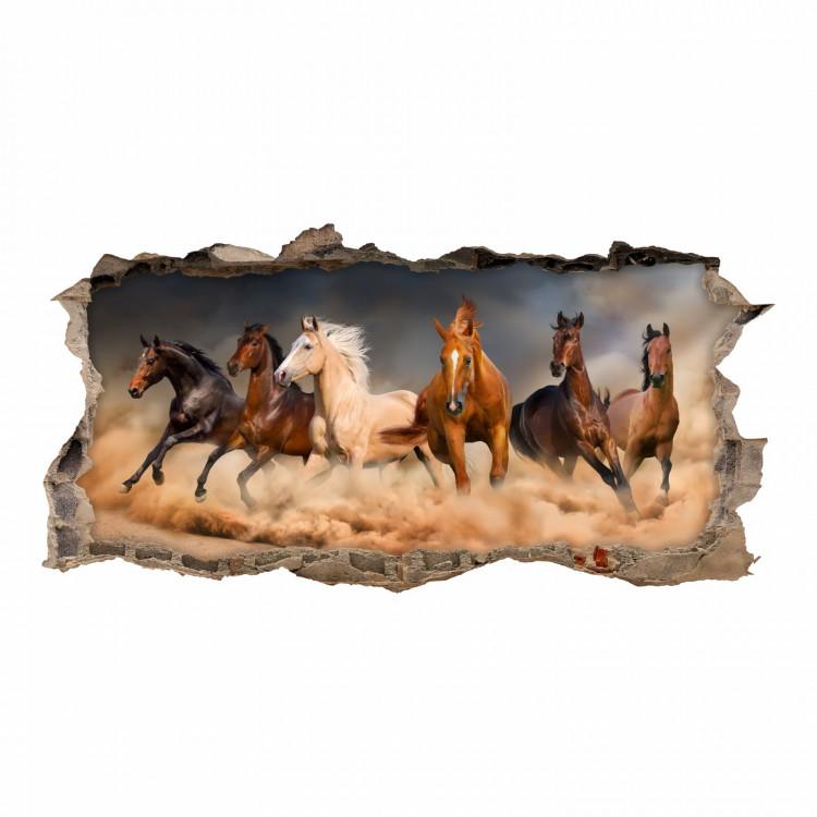 180 Wandtattoo Pferde - Loch in der Wand
