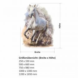 180 Wandtattoo Pferd weiß - Mädchen Kinderzimmer Sticker Aufkleber