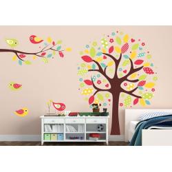 038 Wandtattoo bunter Baum