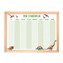 magnetischer Stundenplan Dinosaurier grün mit 90 Magneten
