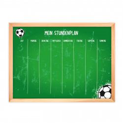 magnetischer Stundenplan Fussball grün mit 90 Magneten
