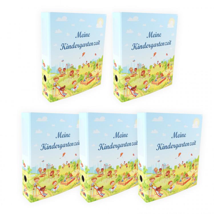 """5 Kindergarten Portfolio Ordner """"Meine Kindergartenzeit"""""""