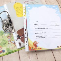 """10 Kindergarten Portfolio Ordner """"Meine Kindergartenzeit"""""""