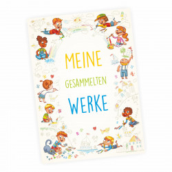 """A4 Sammelmappe """"Meine gesammelten Werke"""" Kinder malen"""