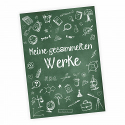 """A4 Sammelmappe """"Meine gesammelten Werke"""" Schultafel grün"""