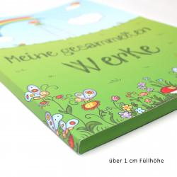 """A4 Sammelmappe """"Meine gesammelten Werke"""" - Weltall mit Silberlack"""