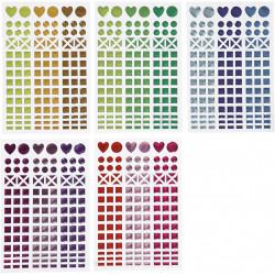 Glitzer Mosaik Sticker - farblich sortiert Mosaiksteine selbstklebend
