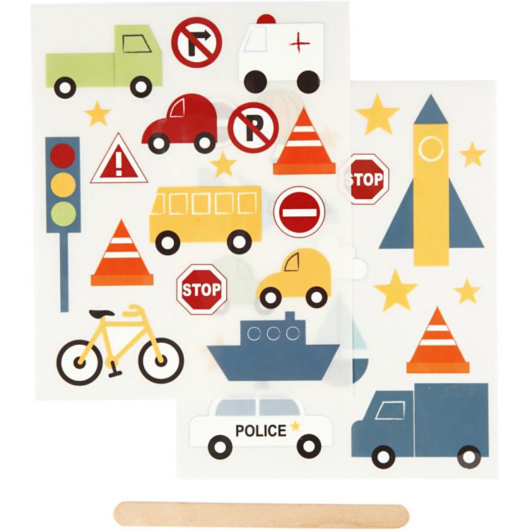 RUB-ON Transfer-Sticker Fahrzeuge für Textil, Papier und Holz