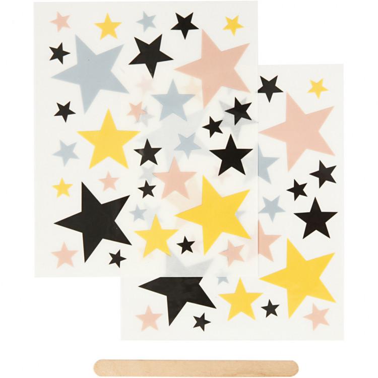 RUB-ON Transfer-Sticker Sterne für Textil, Papier und Holz