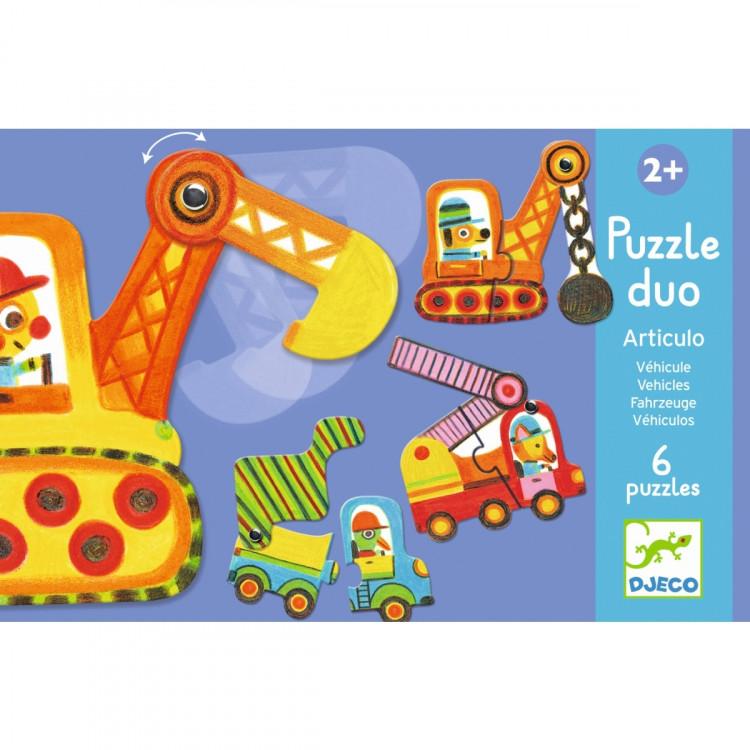 DJECO Puzzle Bewegte Fahrzeuge