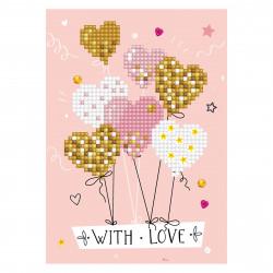 Diamond Dotz Grußkarte Love Balloons