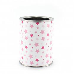 Stiftebecher Sterne rosa/pink - Kinder Stifteköcher Stiftehalter
