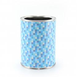 Stiftebecher Pixel blau - Kinder Stifteköcher Stiftehalter
