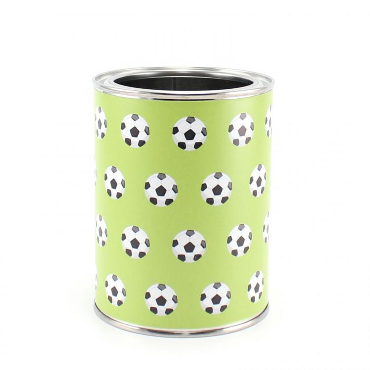 Stiftebecher Fußball grün - Kinder Stifteköcher Stiftehalter