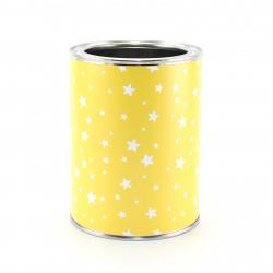 Stiftebecher Sterne gelb/weiß - Kinder Stifteköcher Stiftehalter