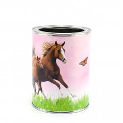 Stiftebecher Pferde rosa - Kinder Stifteköcher Stiftehalter