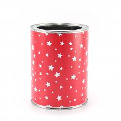 Stiftebecher Sterne rot/weiß - Kinder Stifteköcher Stiftehalter