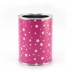 Stiftebecher Sterne pink/weiß - Kinder Stifteköcher Stiftehalter