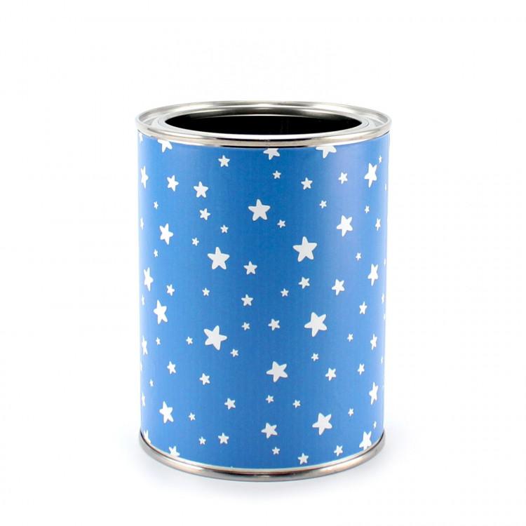 Stiftebecher Sterne blau/weiß - Kinder Stifteköcher Stiftehalter