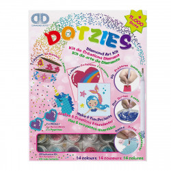 Diamond Dotz Kreativsets zum Erstellen von 2 Armbändern, 2 Bildern und 2 Aufklebern