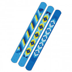 Diamond Dotz 3 glitzernde Armbänder - blau - zum Selbstgestalten