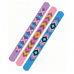 Diamond Dotz 3 glitzernde Armbänder - lila, rosa, blau - zum Selbstgestalten