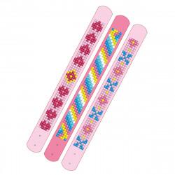 Diamond Dotz 3 glitzernde Armbänder - rosa und pink - zum Selbstgestalten