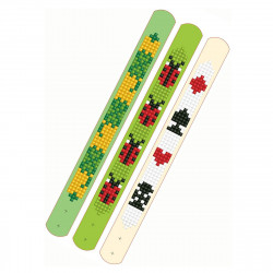 Diamond Dotz 3 glitzernde Armbänder - grün Glück Symbole - zum Selbstgestalten