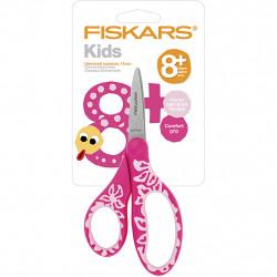 FISKARS Kinderschere pink Blumen - für Rechts- und Linkshänder