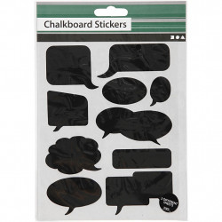 Aufkleber Tafelfolie - 48 Sticker zum selber beschriften