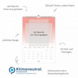Fotokalender Bastelkalender Verlauf mit Feiertagen 2021