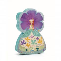 DJECO Puzzle Ballerina mit Blumen - 36 Teile  - ab 4 Jahren