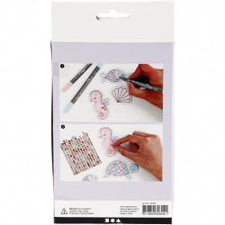 Bastelset Meerestier Magnete Pastell - Kreativset DIY Set