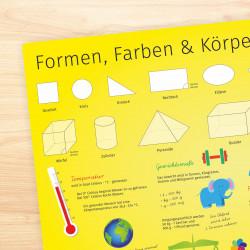 stabiles Vinyl Tischset - Formen, Farben und Körper