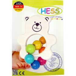 Hess Holz Rassel Teddy bunt