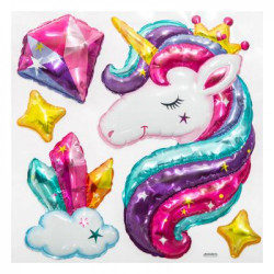 CMP Paris 3D Ballon Sticker Einhorn Metallic Wandtattoo