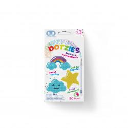 Diamond Dotz Set mit 3 Stickern - Regenbogen, Wolke und Stern