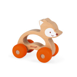 JANOD Baby Pop Greifling-Auto Fuchs Orange