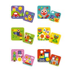 JANOD Puzzle-Lernspiel Formen 6 Motive (Holz)