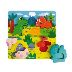 JANOD Holzfiguren Versteckpuzzle Dinos 6 Teile (Holz)