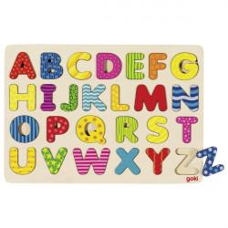 goki Alphabet Holzpuzzle bunt