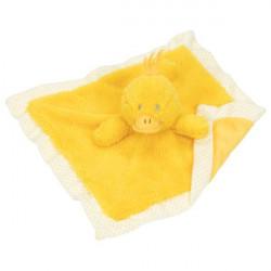 goki Kuscheltuch Ente gelb Schnuffeltuch