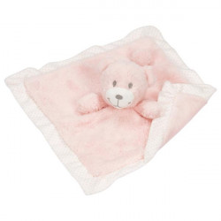 goki Kuscheltuch Bär rosa Schnuffeltuch