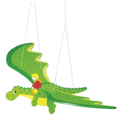 goki Schwingtier Drache grün aus Holz