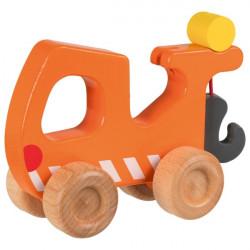 goki oranger Abschleppwagen Holz Schiebeauto