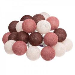 Atmosphéra LED Lichterkette Cottonballs 20 Bälle beere, rostrot, braun