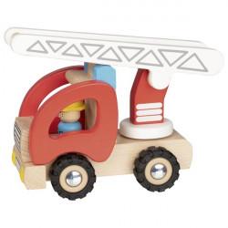 goki Feuerwehr Leiterwagen Holzauto