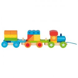 goki bunter Zug mit 15 Bausteinen