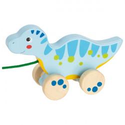 goki Ziehtier Dinosaurier II blau aus Holz